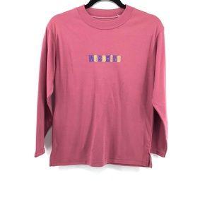 MOSCHINO Logo Front Long Sleeve Shirt